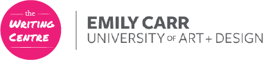 Emily Carr Writing Centre + Learning Commons Logo